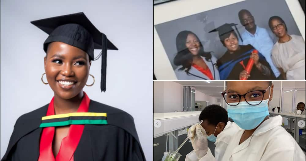 BEAUTIFUL GRADUATE THANKS MOM AFTER GETTING HER DEGREE