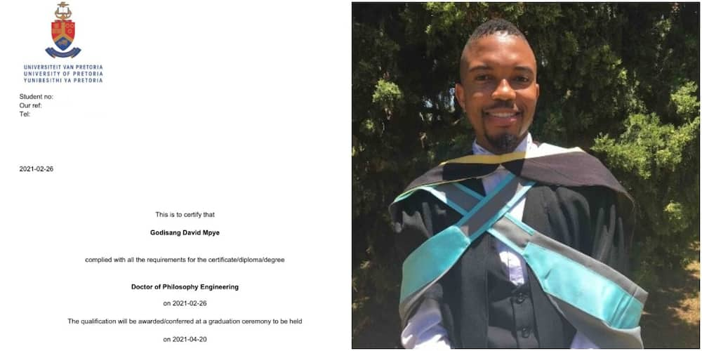Young man celebrated on social media by well-wishers after bagging PhD in engineering