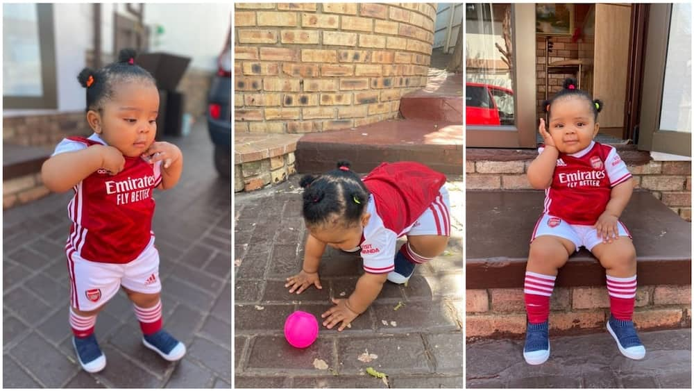 A collage showing the baby in the jersey. Photo source: Twitter/@Torsso