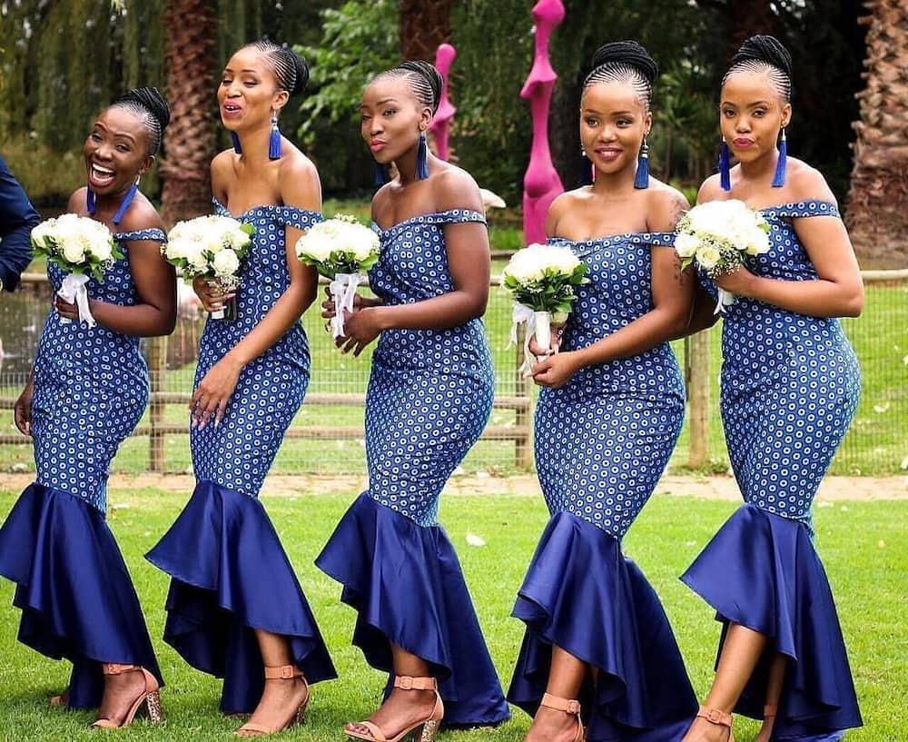 Tswana bridesmaids ensemble