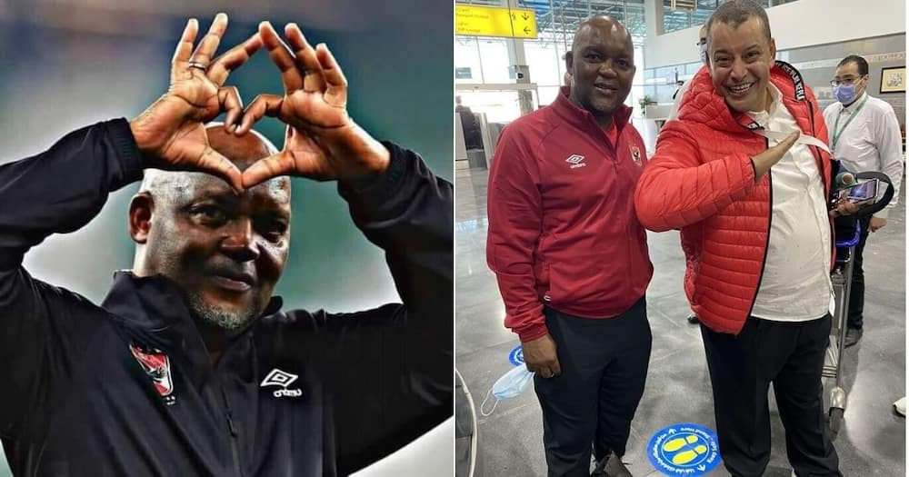 Al Ahly coach Pitso Mosimane has sent a lovely message for Africa Day celebrations. Image: @TheRealPitsoMosimane/Instagram
