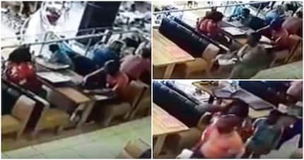 Family caught on video brazenly stealing handbag at a Spur restaurant