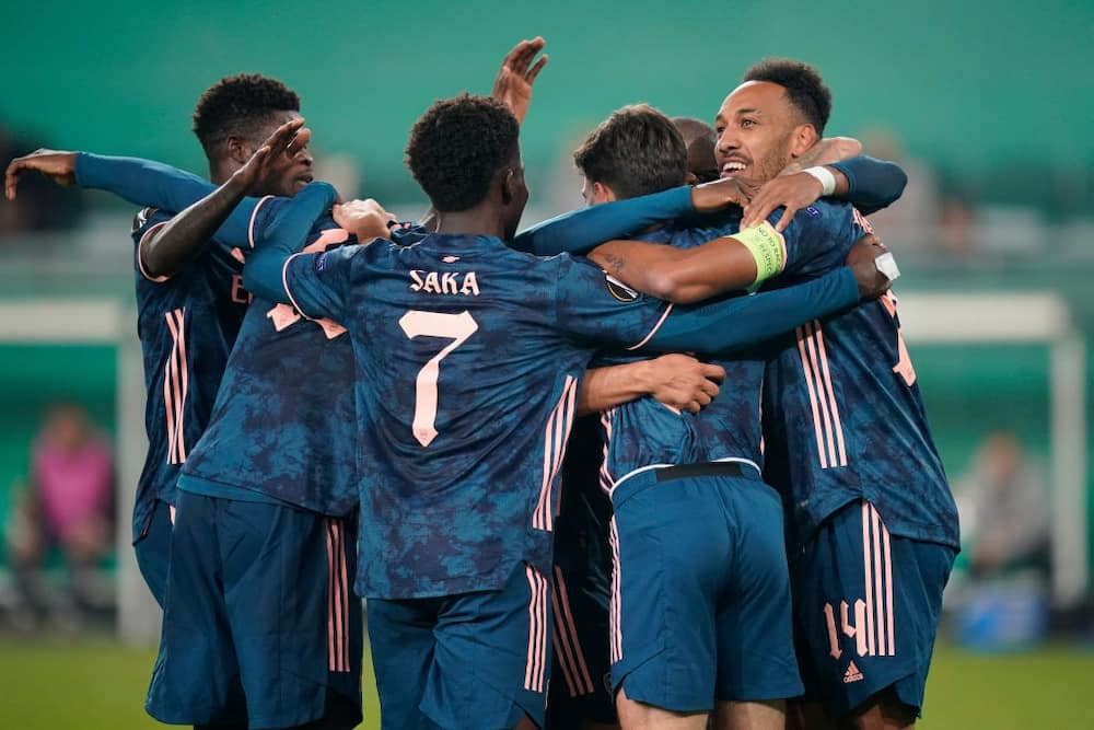 Rapid Wien vs Arsenal: Aubameyang inspires Arsenal to 2-1 Europa League victory
