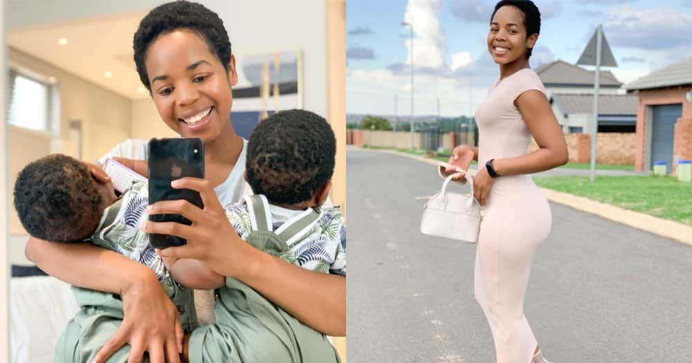 Woman boasts about how body snapped right back after having twins