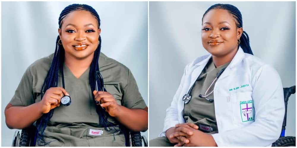 Social media reacts, lady, disability, celebrates finishing medical school, doctor, wheelchair