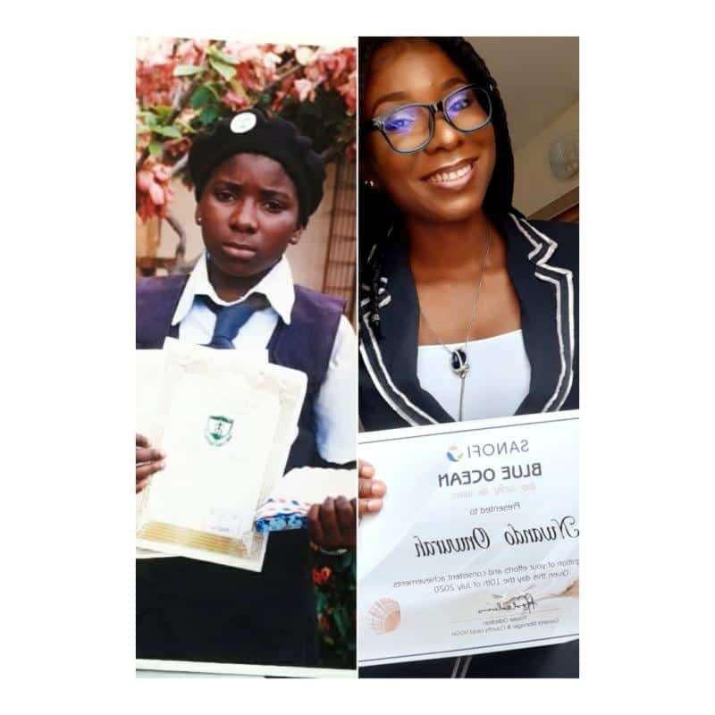 Nigerian lady flaunts achievements from childhood to adulthood, pays tribute to parents and teachers for making it possible