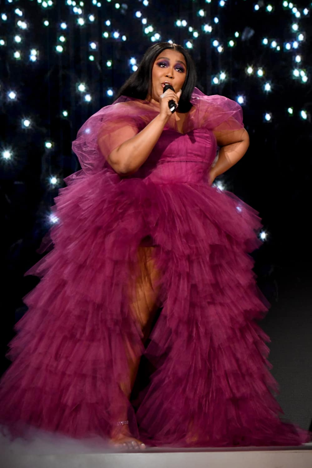Lizzo's purple outfit