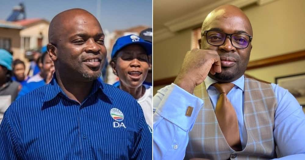 Images and a video of DA Gauteng leader Solly Msimanga are causing a stir on social media. Image: @Abramjee/Twitter