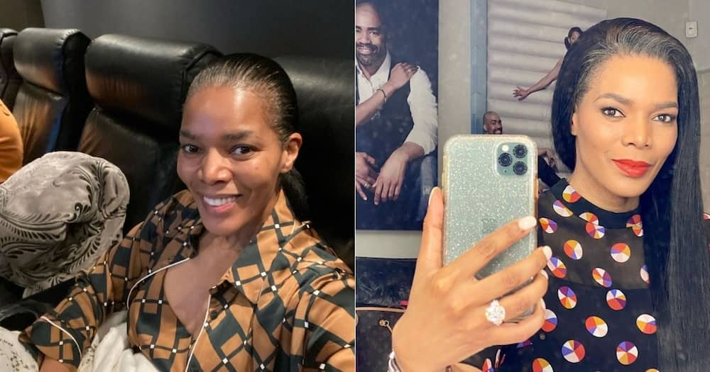 Connie Ferguson surprised with stunning portrait of herself as birthday gift