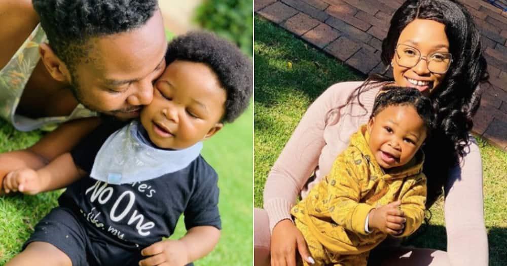 Zola Nombona and Thomas Gumede celebrate their baby boy's 1st birthday