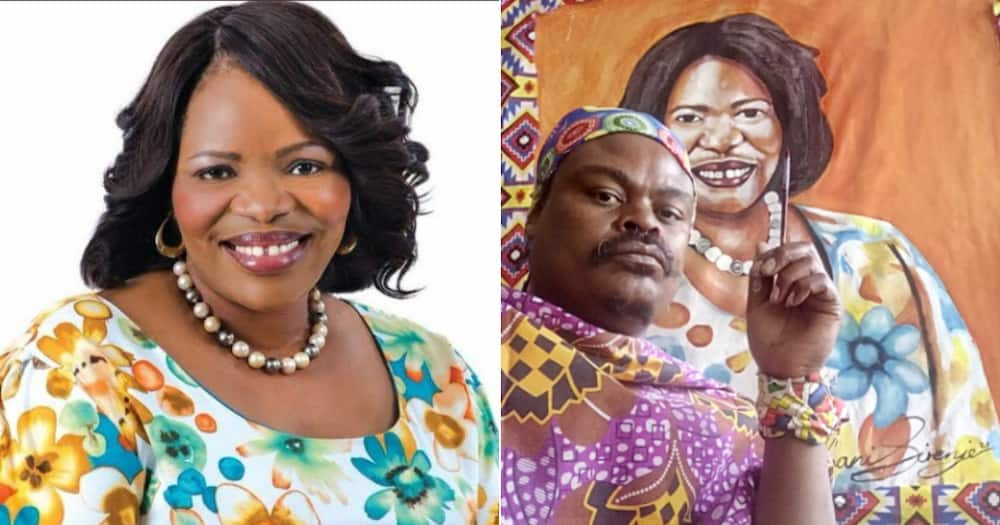 Rasta, Zanele KaMagwaza Msibi, NFP, Painting, Social media reactions