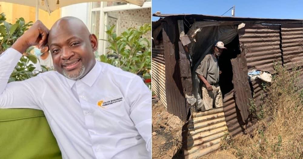 Businessman, vows build, proper home, man, shack
