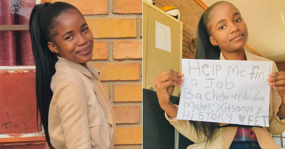 Young woman, Bachelor of Education, Qualification, Mzansi, Assistance, Help, Facebook, Social media, Job, Employment, Educator, FET, Further Education and Training