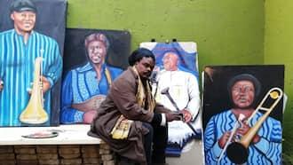 Khuzeka Rasta: Mzansi isn't happy with Rasta's painting of the late Tsepo Tshola