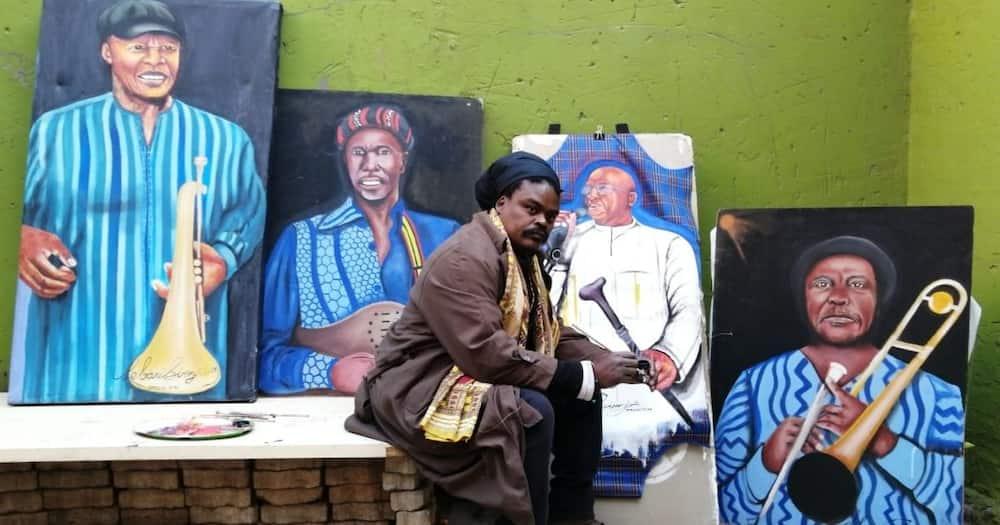 Rasta, Mzansi, Not Happy, Painting, Tsepo Tshola