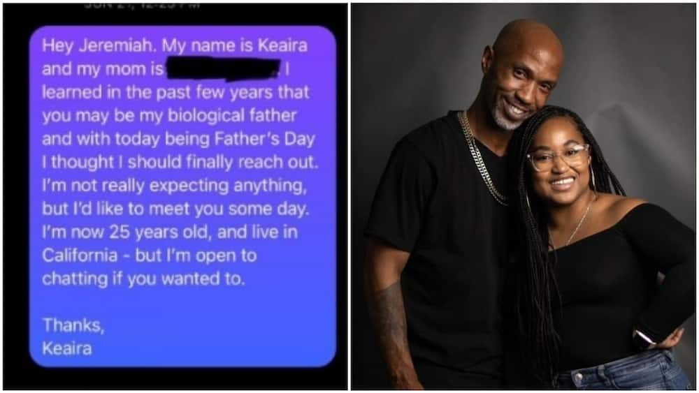 After 25 years, lady finally found her father on Twitter who separated from mum