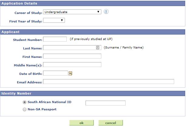 University of Pretoria online application 2022