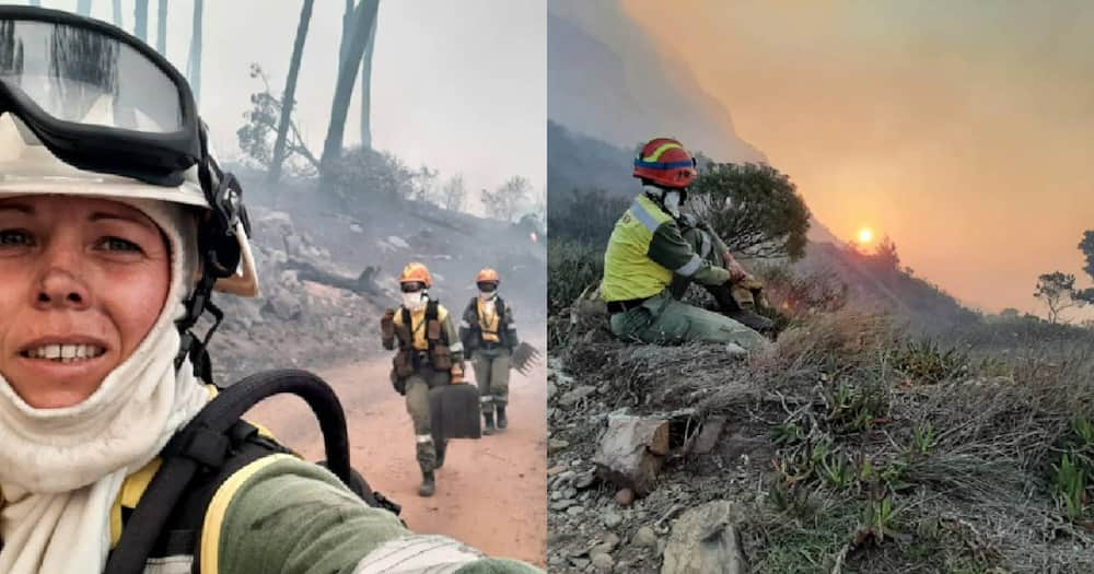 Female firefighters of Juliet Crew on front lines of Cape Town fire