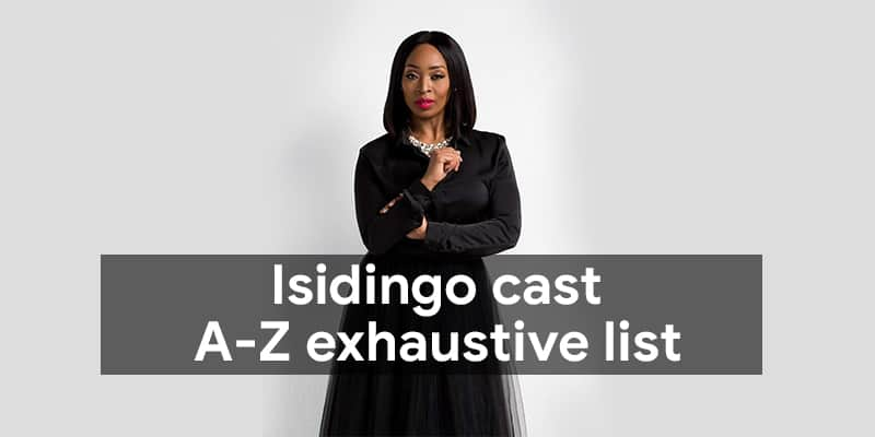 Isidingo cast: A-Z exhaustive list with pictures