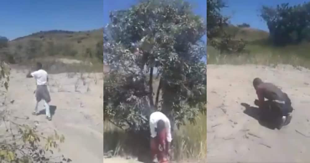 Mzansi reacts to men having bizarre prayer session in wilderness
