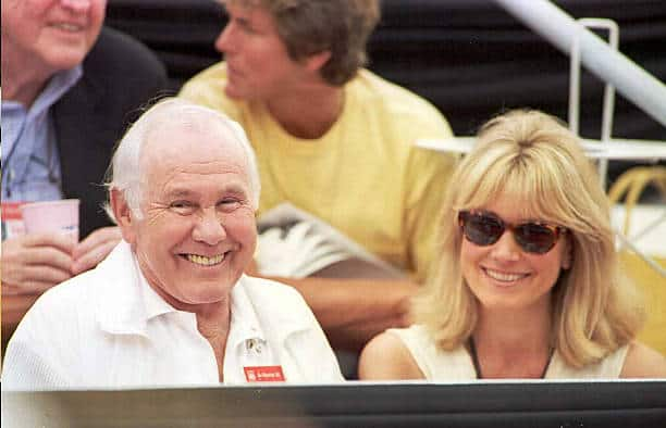 Alexis Maas and Johnny Carson