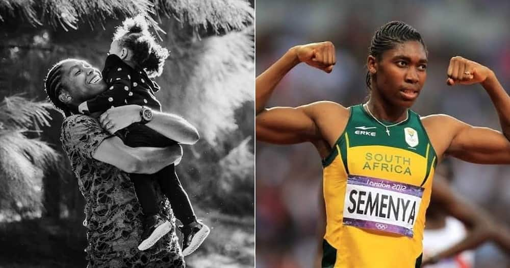 Mzansi, Sprinter, Caster Semenya, Photo, Daughter