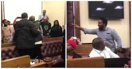 "BLF ejected from parliament after a member ""manhandles"" SA billionaire"