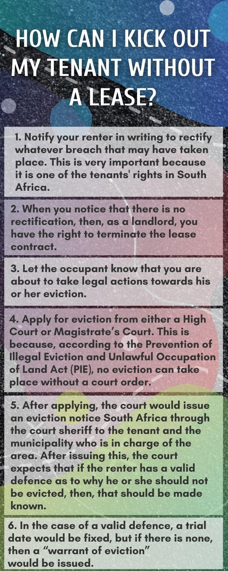 How to evict a tenant without a lease
