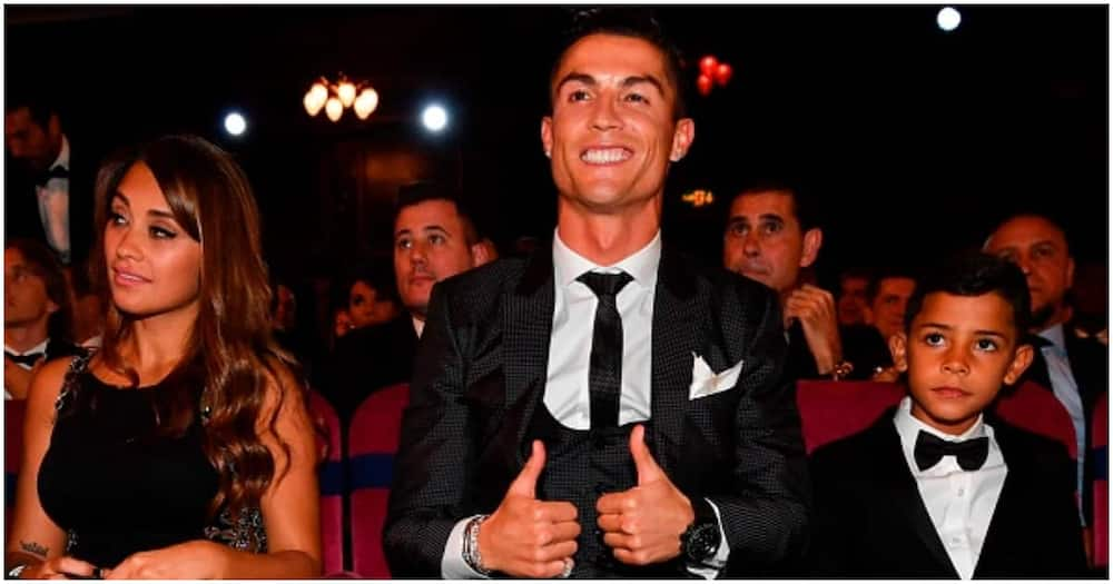 Cristiano Ronaldo during a past gala awards ceremony. Photo: Getty Images.