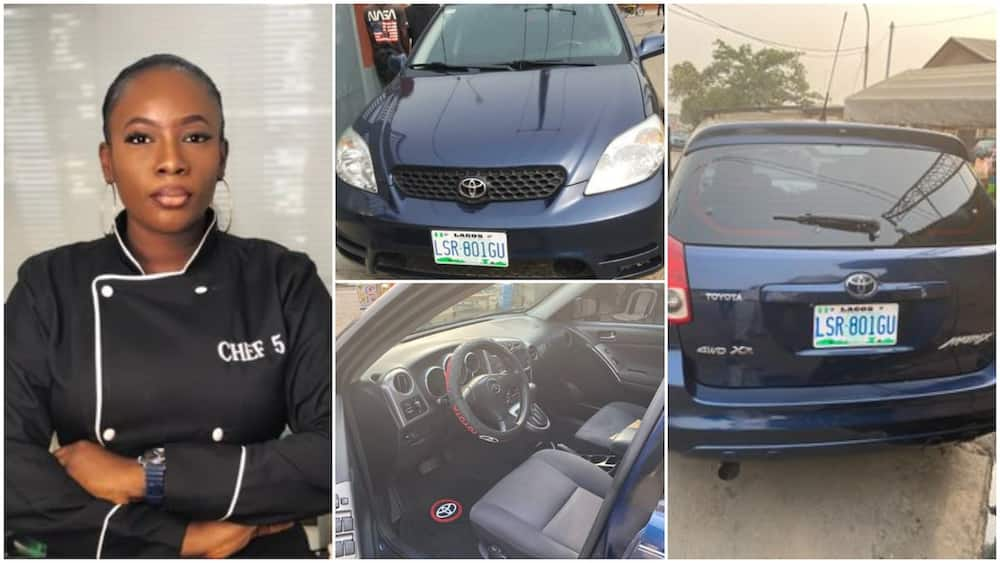 Nigerian lady buys new car, says it took her 1 year, 8 months and 2 weeks to save the money, amazes people