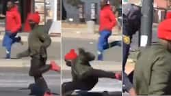 """""""Someone's Boyfriend"""": Mzansi reacts to video of man who slips up, arrested by cops"""