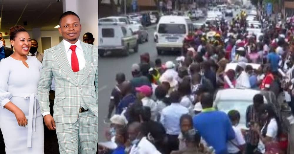 Turn off FB IA pls: Bushiri's supporters, protest, outside court