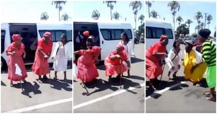 Viral video shows gogos rolling back years with 'walking stick vosho'