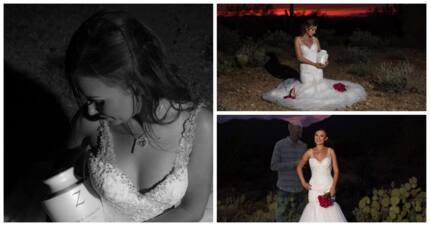 Bride shares heartbreaking photos without her groom, cautions drivers