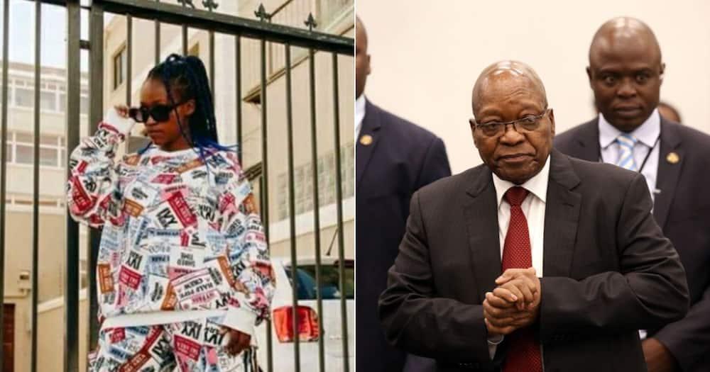 Woman's reaction, Jacob Zuma, Social media reactions