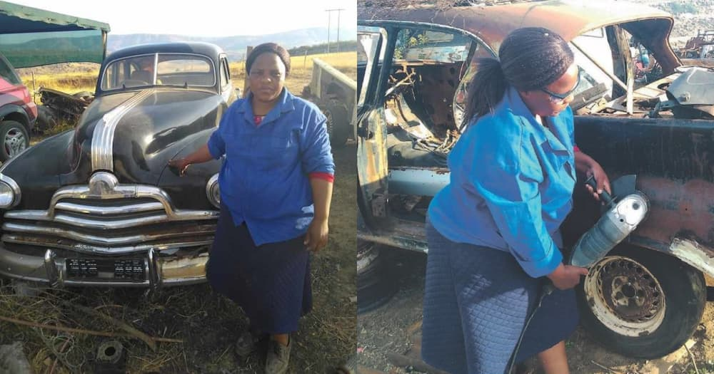 Mzansi woman starts successful car restoration business with 2k loan