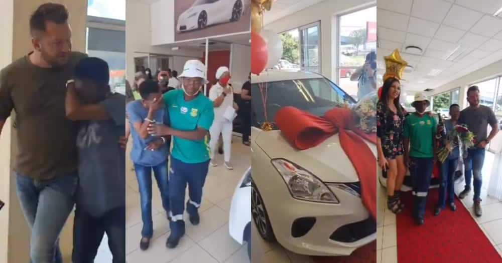 SA loves the clip of Thembi getting a car.