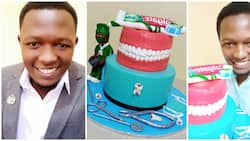 Talented man showcases epic 'teeth cake' he baked for a dentist, looks so real