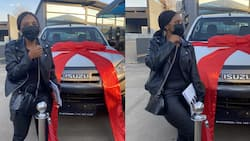 Lady thanks ancestors after buying bakkie and a trailer in same month