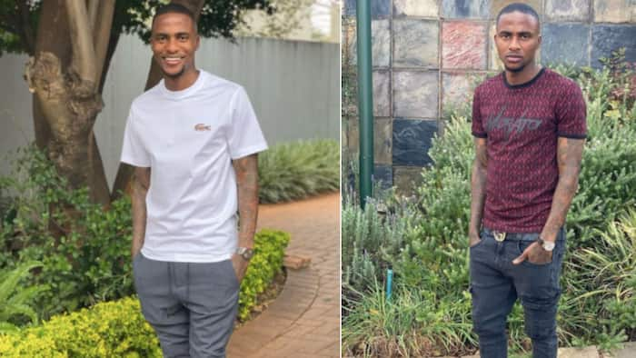 Thembinkosi Lorch shows off Gucci sneakers worth R10k on the gram