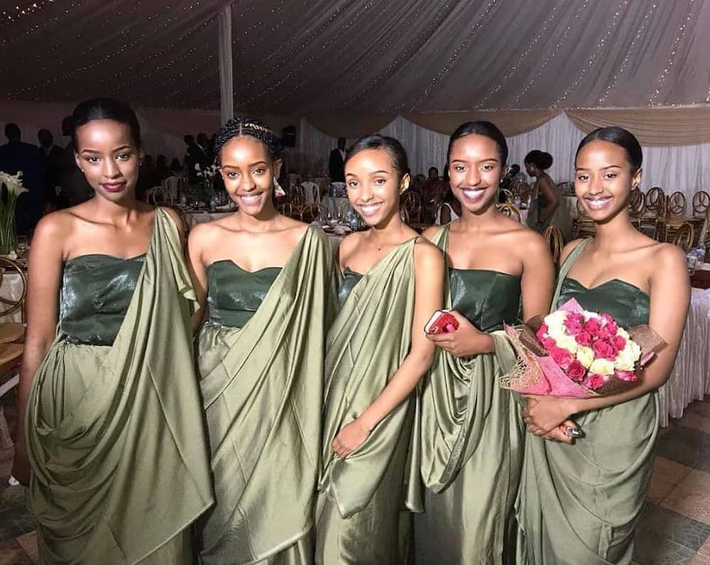 Rwandese traditional bridesmaids ensemble