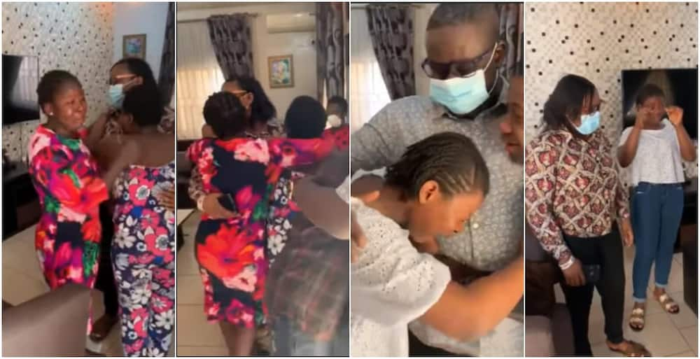 COVID-19: Nigerian kids get emotional upon receiving parents from UK