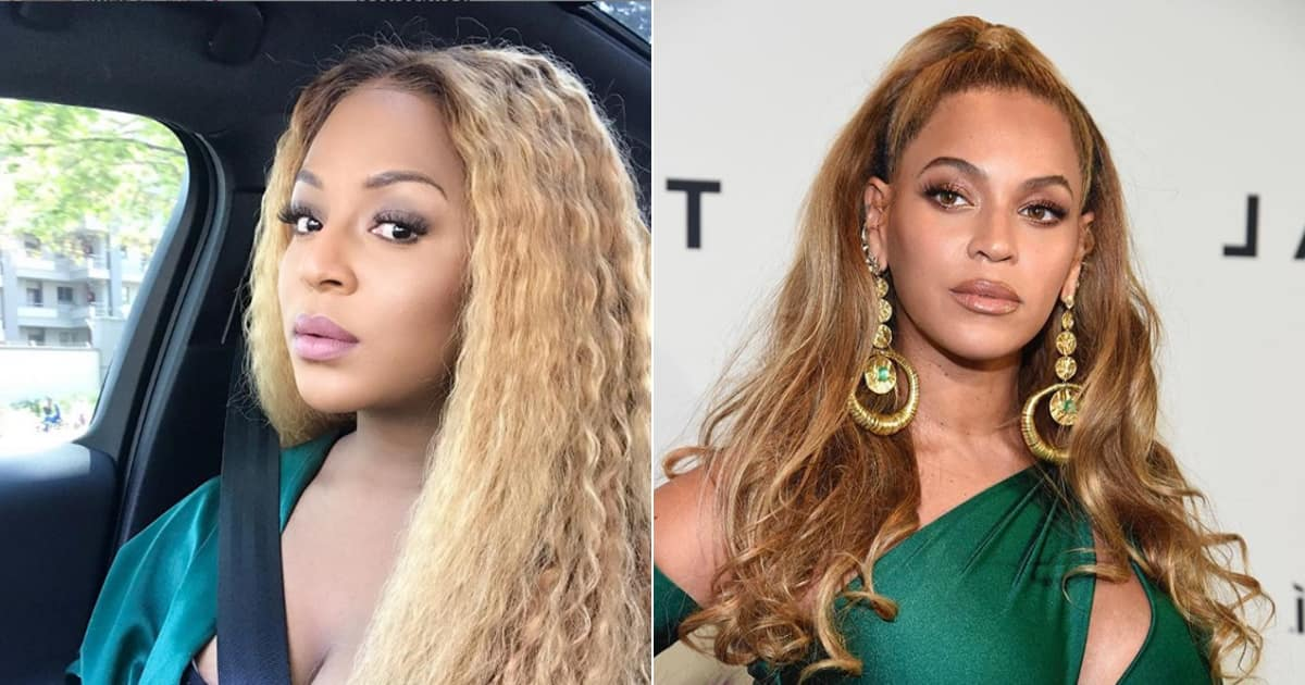 Jessica Nkosi got confused with Beyoncé but she ain't mad at it