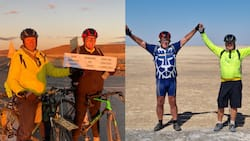 2 SA men brave extremities cycling for 2900km to raise GBV awareness