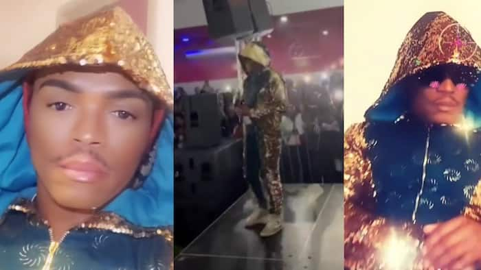 """""""Load shedding can't steal my light"""": Somizi blinds his fans with his gorgeous golden suit"""