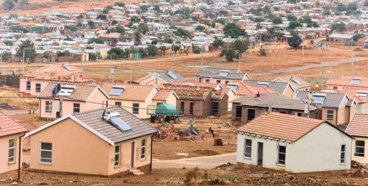 How many RDP houses in South Africa