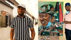 """""""Talented"""": Amazing artist Thabiso Mahlaba draws inspiration from Madiba with stunning artwork"""