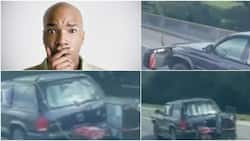Reactions as video captures motorist powering fridge and AC with generator on highway