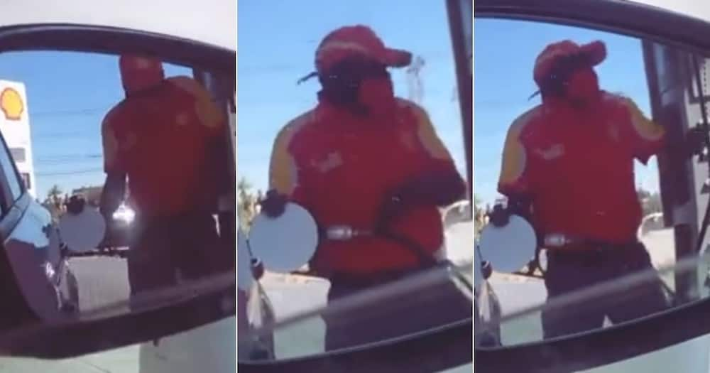 Mzansi, Wowed, Petrol Attendant, Filmed Video. Jamming Song