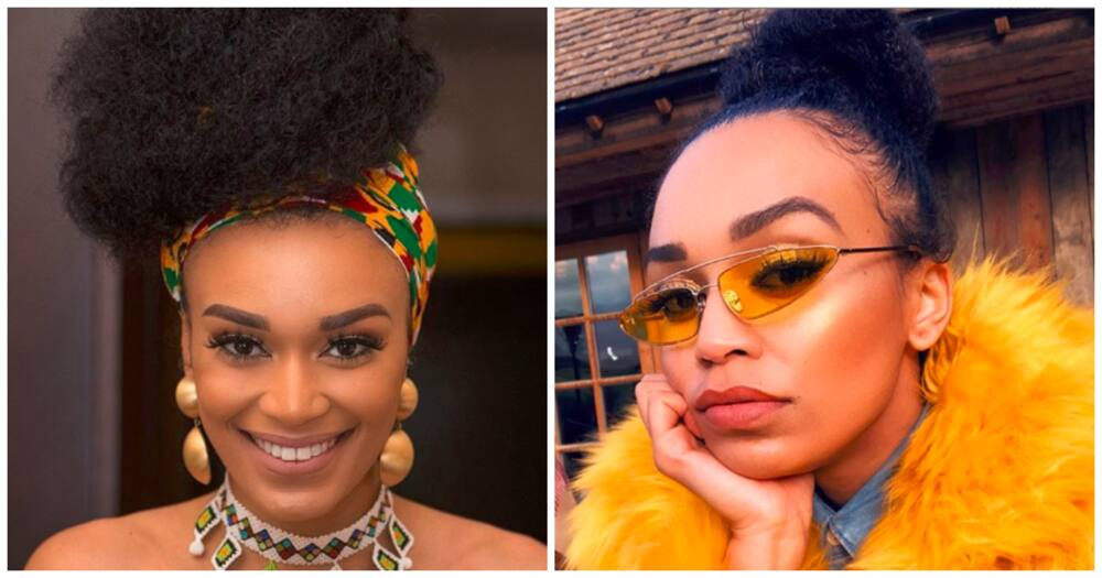 Life of the party: Pearl Thusi shows love to her friend Somizi